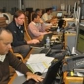 CNES and ESA personnel in the Main Control Room