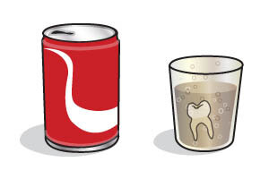 Experiment: effect of fizzy drinks on teeth