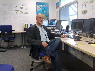 ESA's Guillermo Buenadicha oversees SMOS payload operations