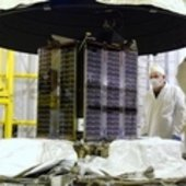 Proba-2 encapsulated by SMOS launch adapter