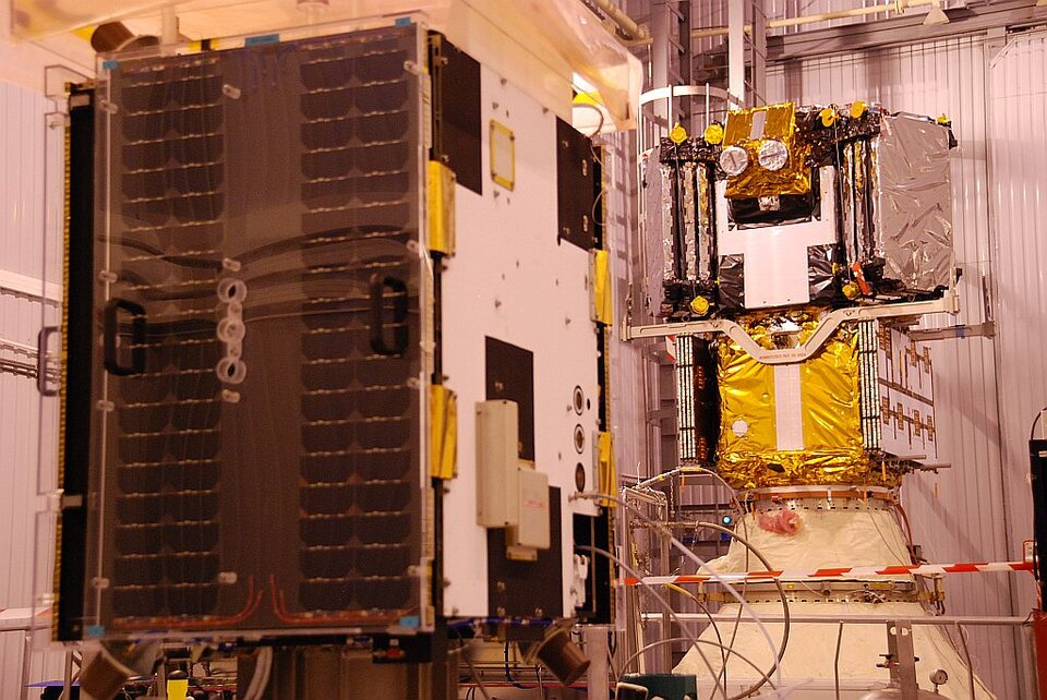 Proba-2 with its big brother SMOS in the background…