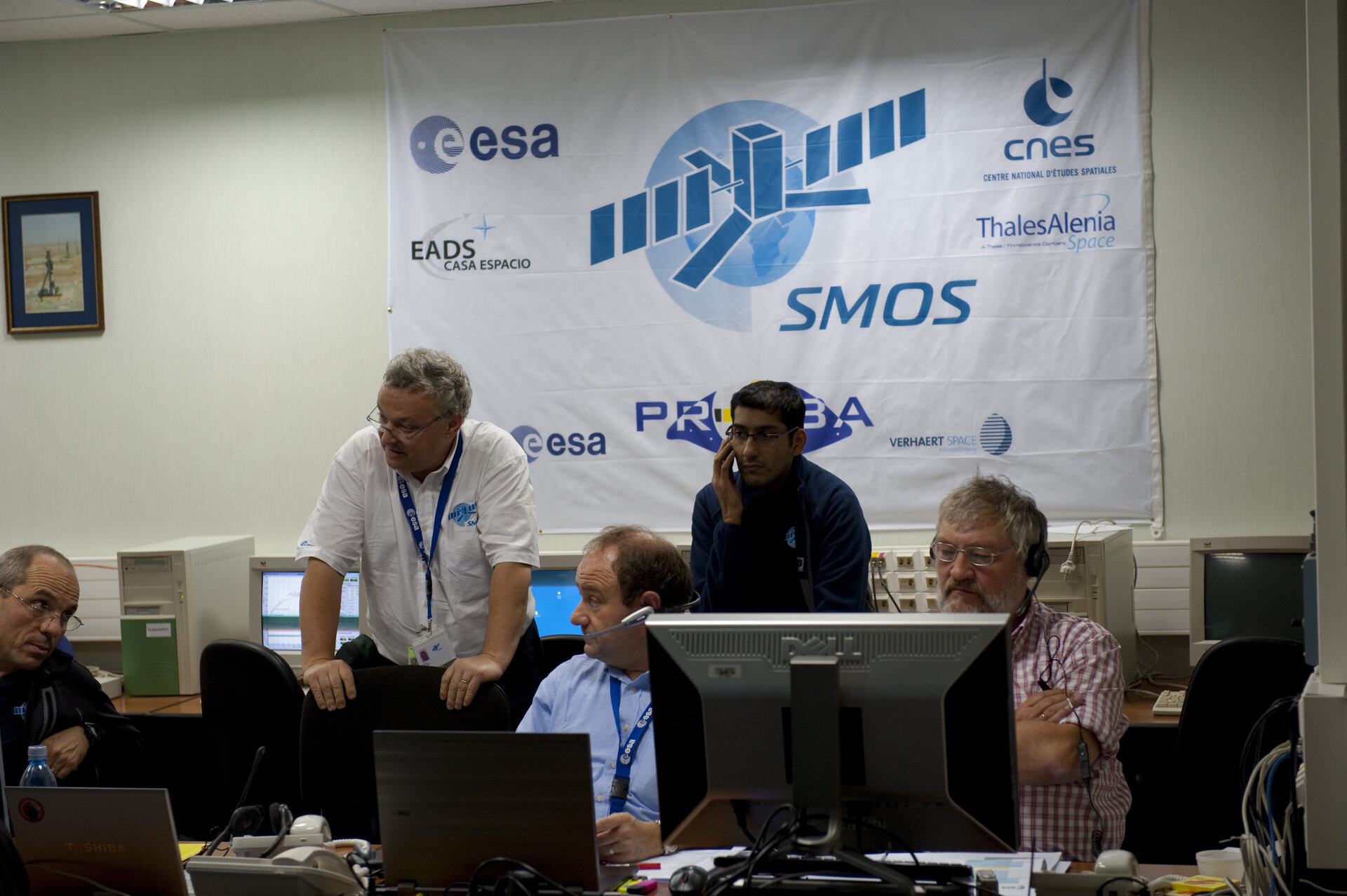 SMOS and Proba-2 team during launch countdown rehearsal