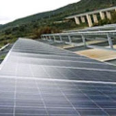 Solar cell power plant in Sicily
