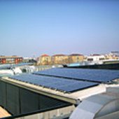 Solar cells on Lombardy Region building, Milan