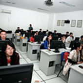 Students attending a practical excercise