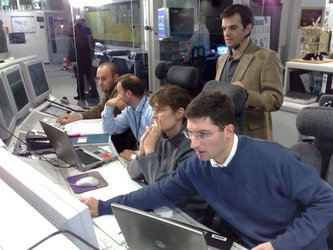 A. Accomazzo with Rosetta Flight Control Team during Steins encounter 2008