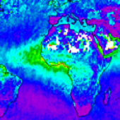 Aerosol optical depth for 2007