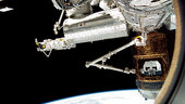 Canadarm2 grapples HTV for release