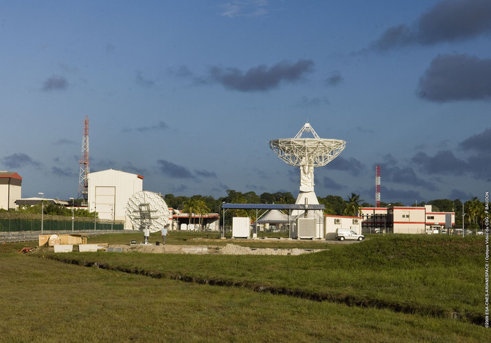 Inauguration of site of Galileo station at Kourou