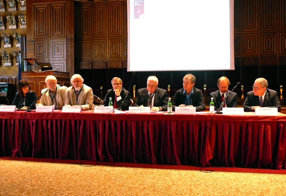 Panel members at the closing round table discussion