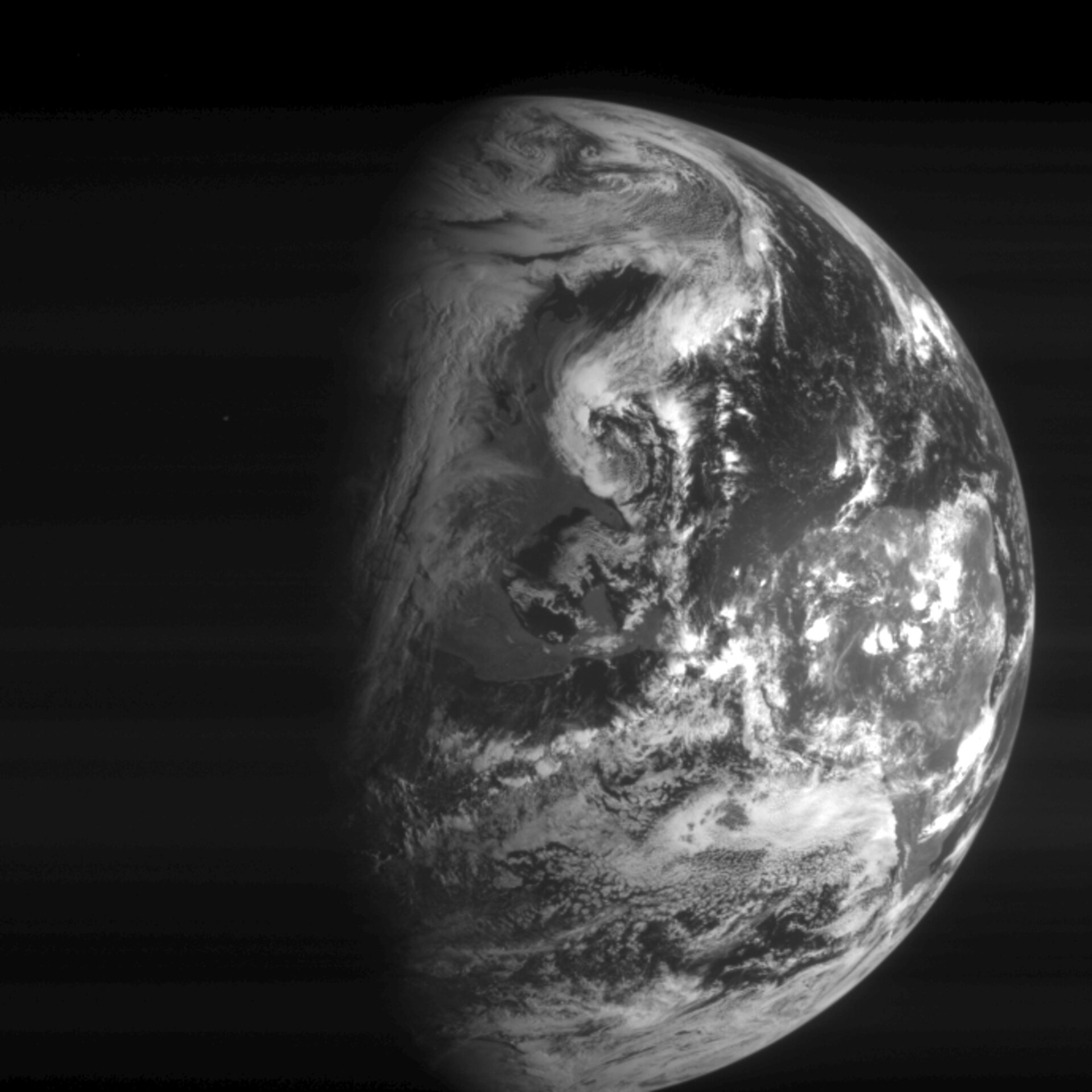 Rosetta navigation camera image of Earth