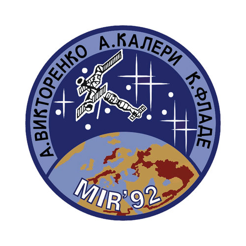 Soyuz TM-14 patch, 1992