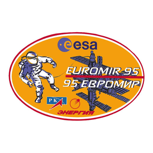 Soyuz TM-22 Euromir 95 mission patch, 1995