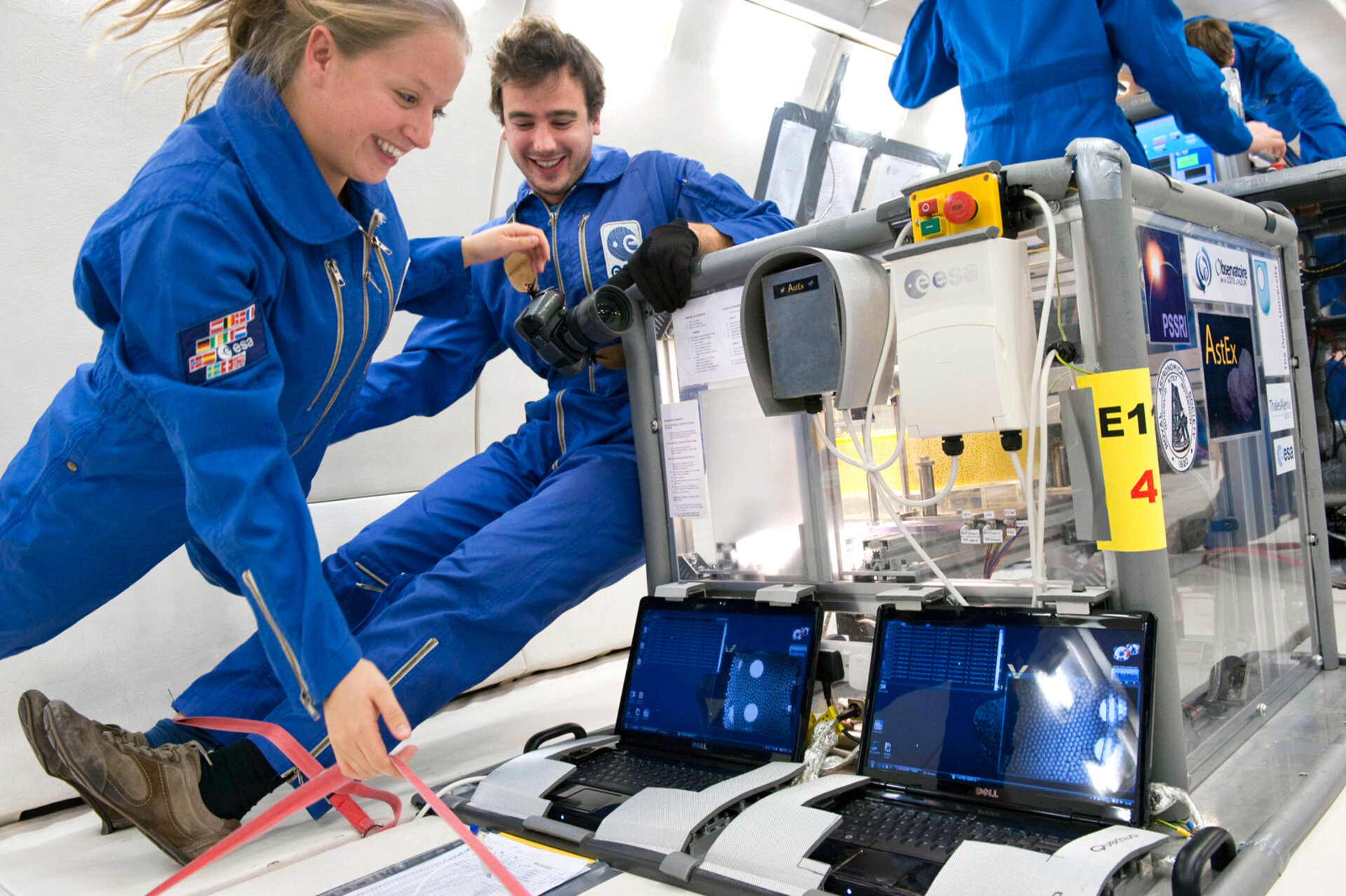 Students in microgravity