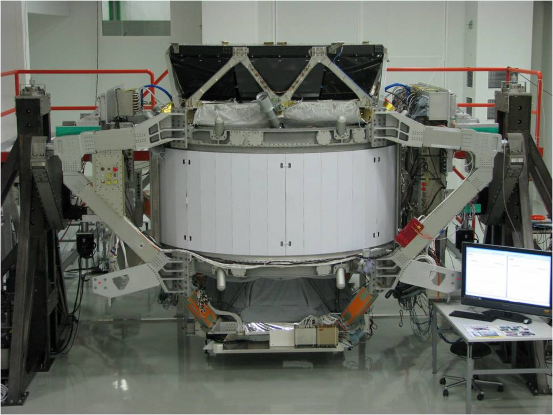 AMS-2 during integration activities at CERN facility in Switzerland