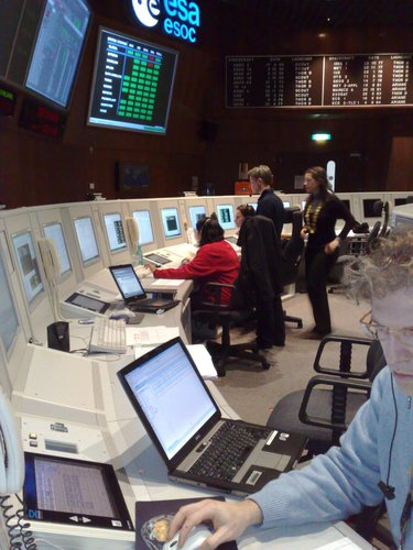 CryoSat-2 Flight Control Team members during simulation training 16 December 2009