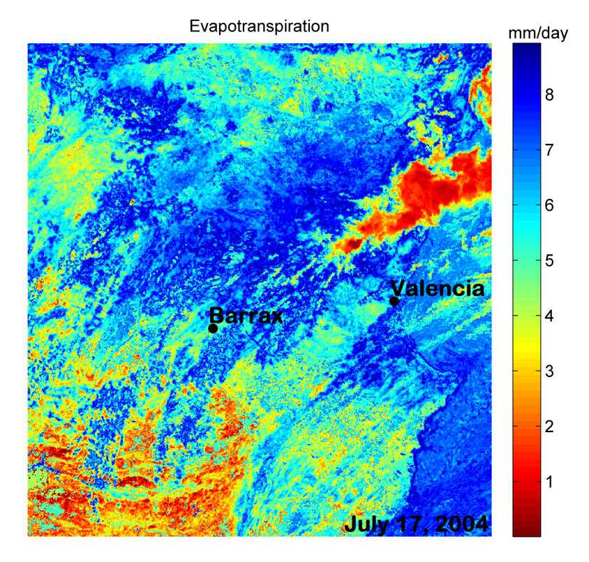 Evapotranspiration estimates