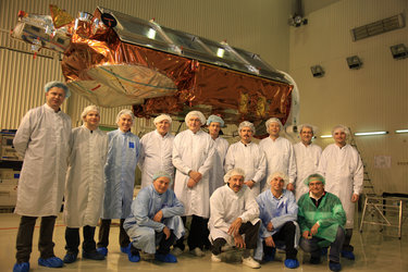 Cryosat-2 launch campaign team