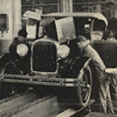 Ford Model A assembly line in 1928