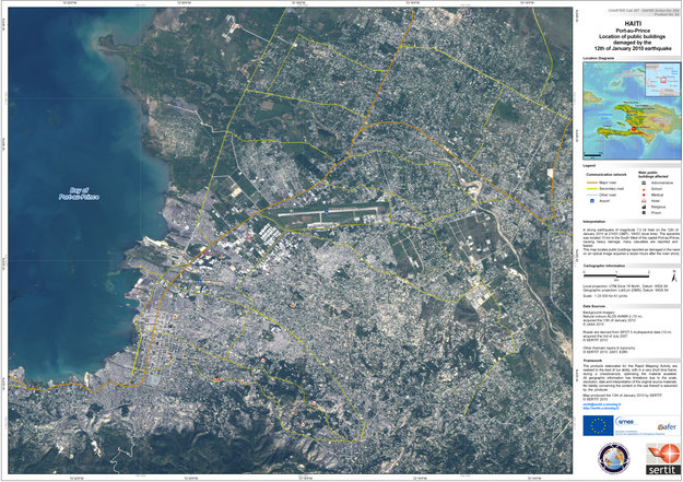 First Satellite Map Of Haiti Earthquake Observing The Earth Our