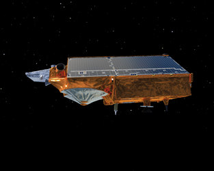 Side view of CryoSat