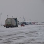 Wintery conditions at Munich airport