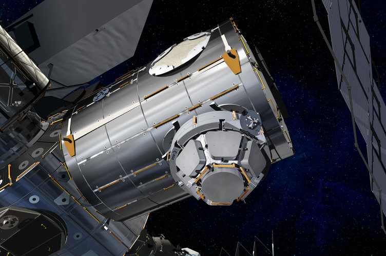 Artist's view of the Cupola mounted on Node-3