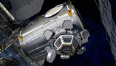 Artist's view of the Cupola mounted on the Node-3 module