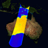 Calibrated image over Australia