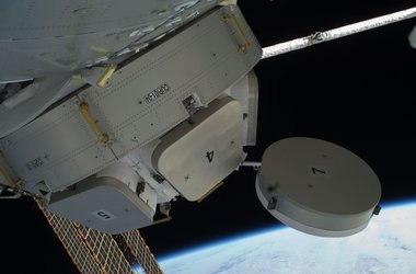 Cupola's 'eyes' open, its window shutters are moved