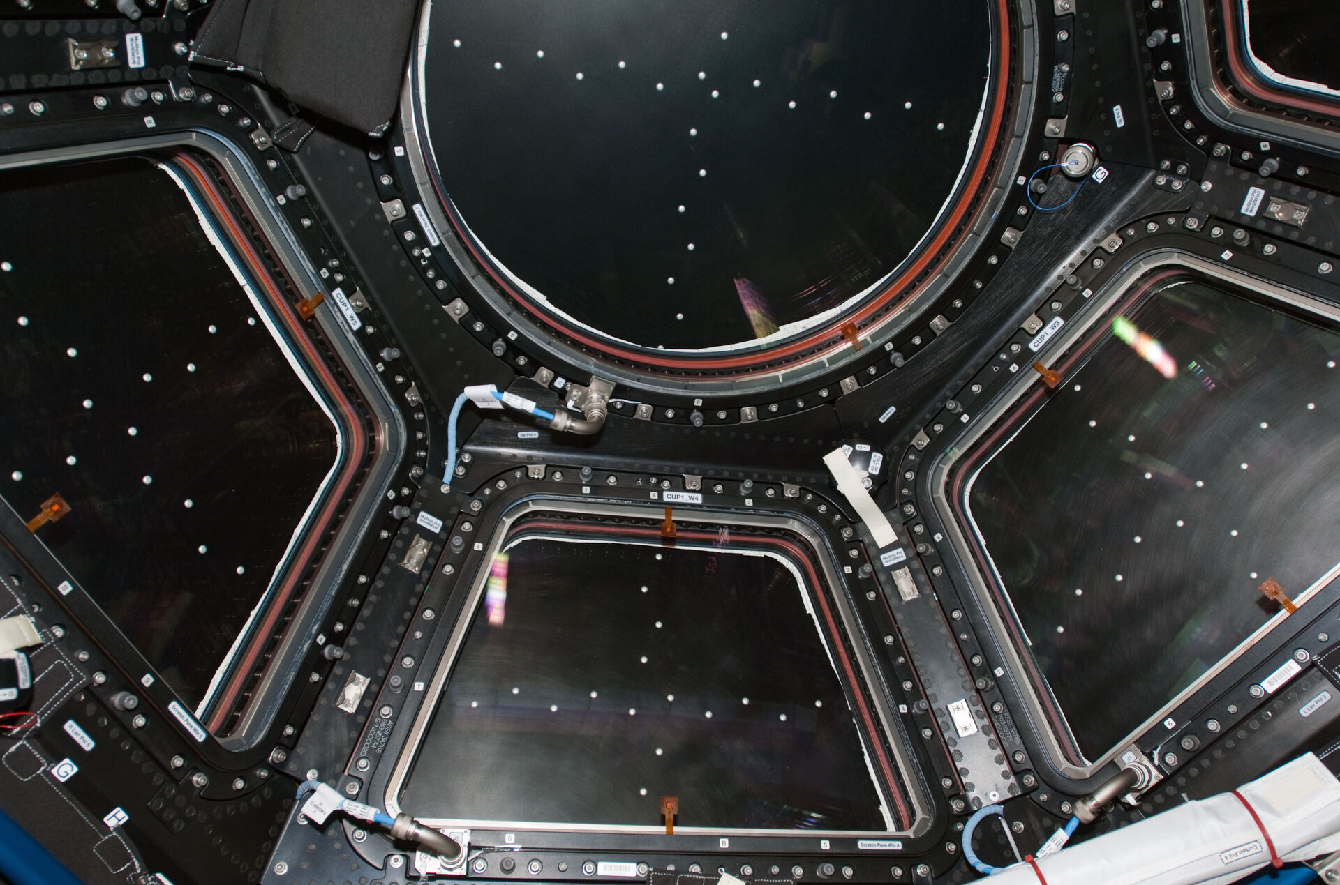Cupola with shutters closed seen from inside