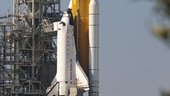 Space Shuttle Endeavour on the launch pad