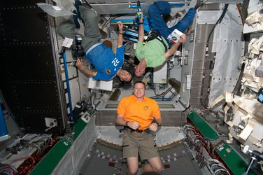 Expedition 22 astronauts in the Node-3