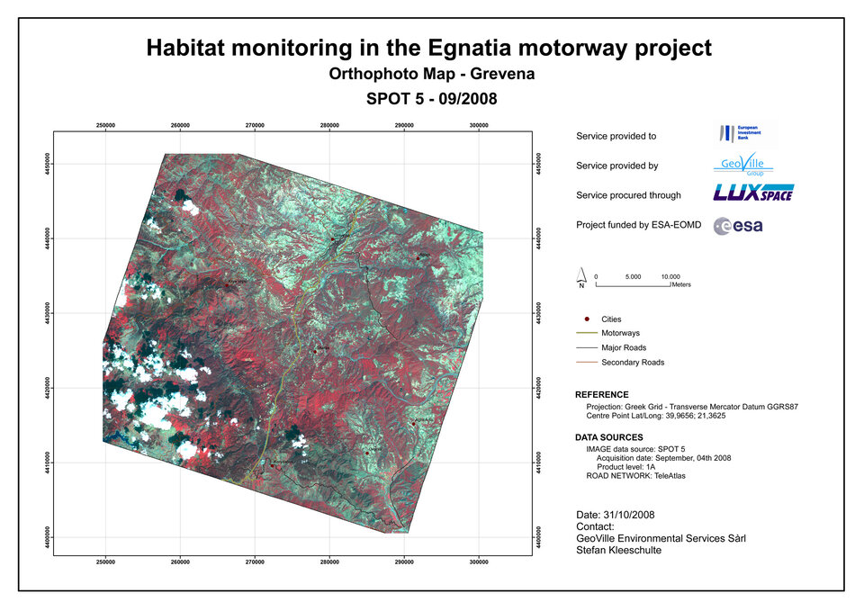Habitat monitoring of the Egnatia Highway
