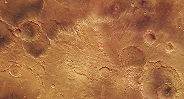 craters young and old in sirenum fossae    mars express