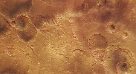 Part of the Sirenum Fossae region in the Southern Highlands of Mars.