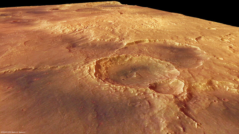 Craters in the Sirenum Fossae region of Mars