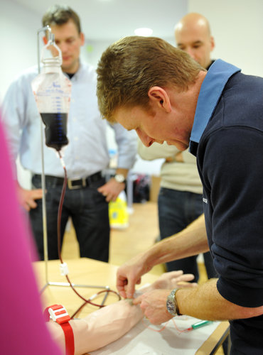 Timothy Peake during training at EAC, January 2010