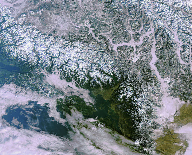 Earth From Space 2010 Olympic City Vancouver Canada