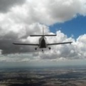 Aircraft mapping microwave emissions