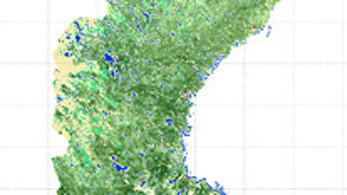 Space In Images Forest Growing Stock Volume Map Of - Sweden forest map