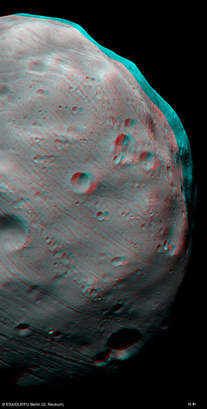 Mars Express HRSC 3D image of Phobos, taken on 7 March 2010