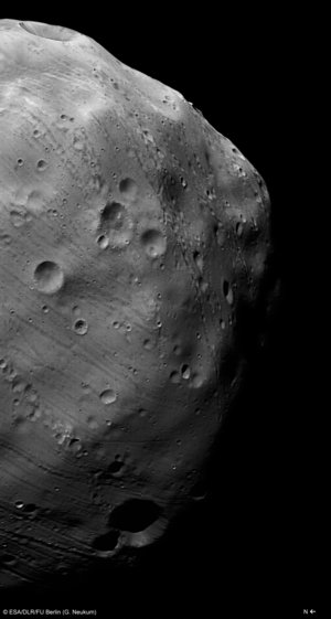Mars Express HRSC image of Phobos, taken on 7 March 2010