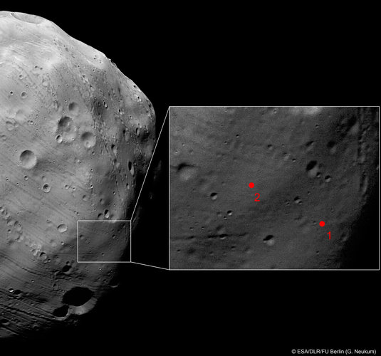 Phobos-Grunt landing site imaged on 7 March 2010