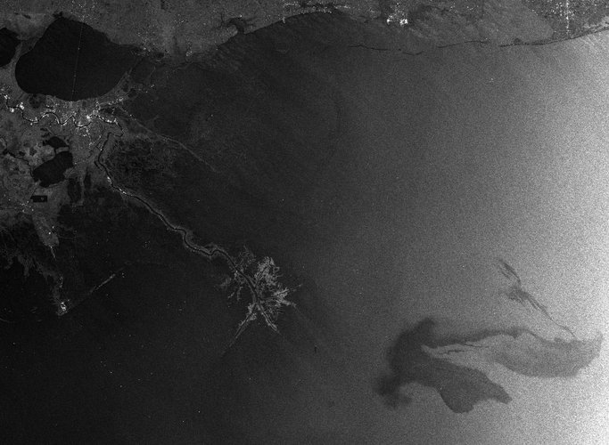 Envisat radar image of the oil spill