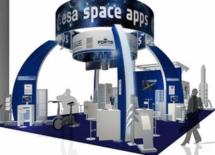 'ESA Space Apps' booth at Hannover Messe 2010