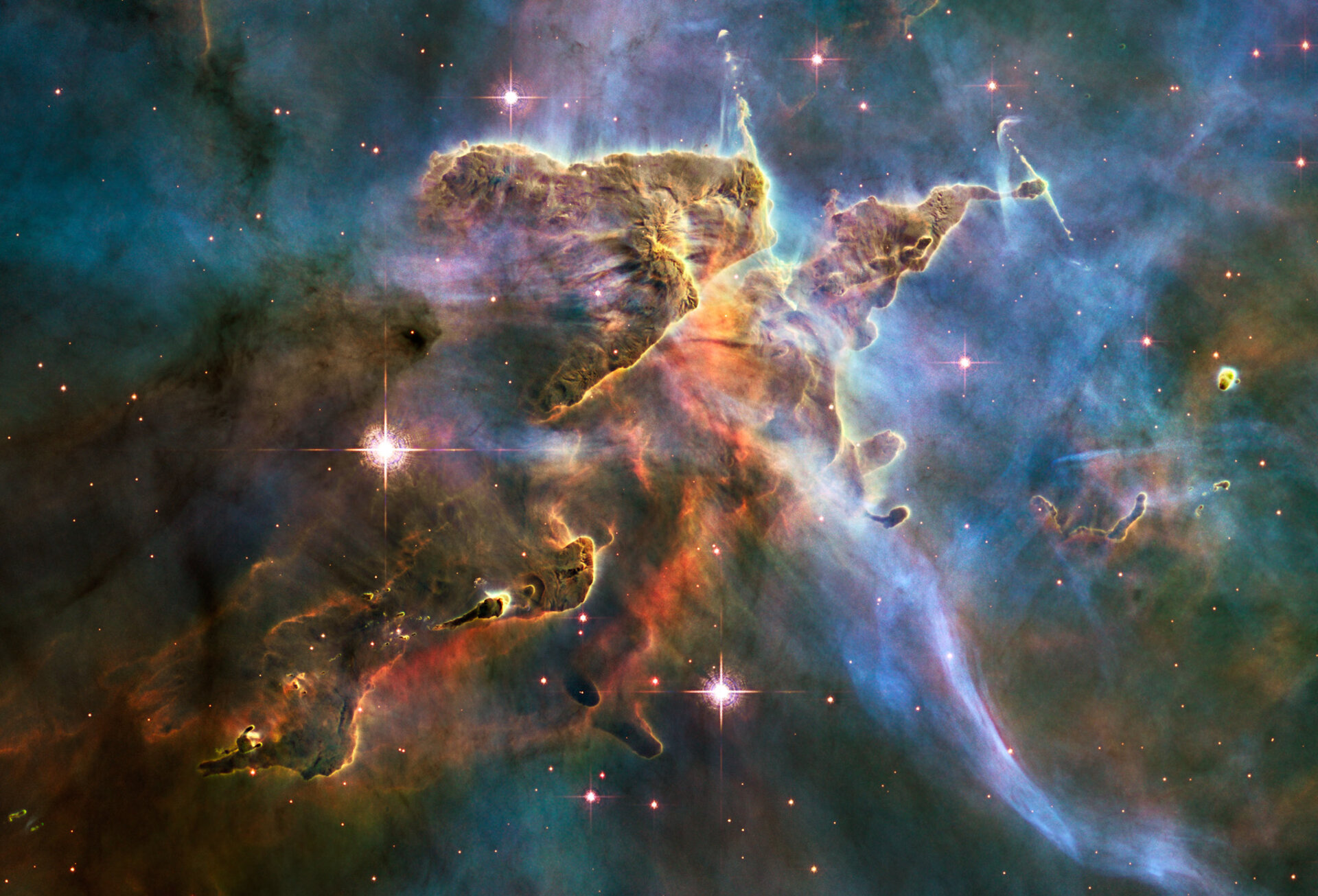 Hubble captures spectacular 'landscape' in the Carina Nebula