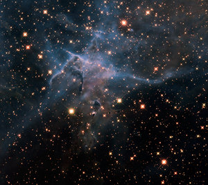Hubble's wide view of 'Mystic Mountain' in the infrared