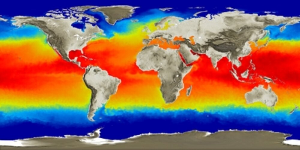 Monitoring the Earth ocean temperatures