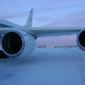 NASA's DC-8 at the Thule airbase